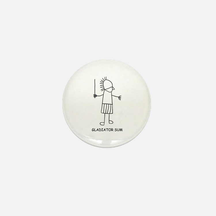 Gladiator Sum Mini Button (10 pack)