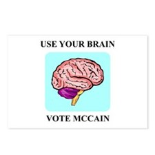 Use Your Brain, Vote McCain Postcards (Package of