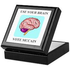 Use Your Brain, Vote McCain Keepsake Box