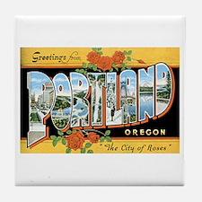 Portland Oregon OR Tile Coaster