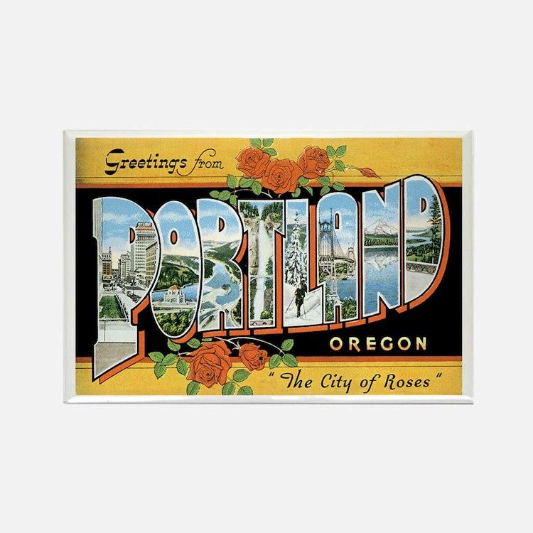 Portland Oregon OR Rectangle Magnet