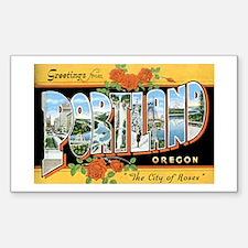 Portland Oregon OR Rectangle Decal