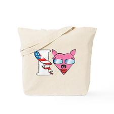 I Heart Palin Pit Bull Tote Bag