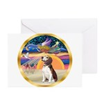 XmasStar/Beagle 2 Greeting Cards (Pk of 10)