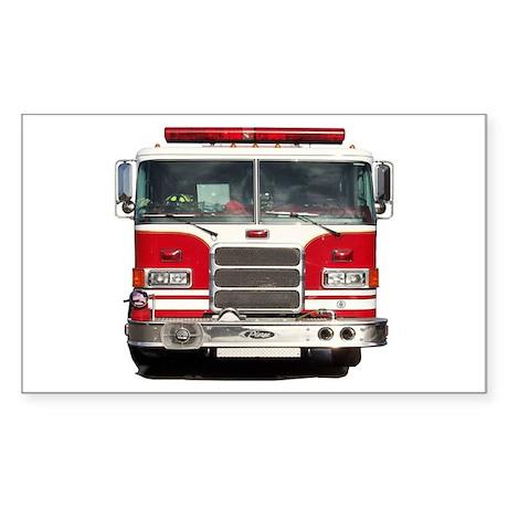 PIERCE FIRE TRUCK Rectangle Sticker 50 pk)