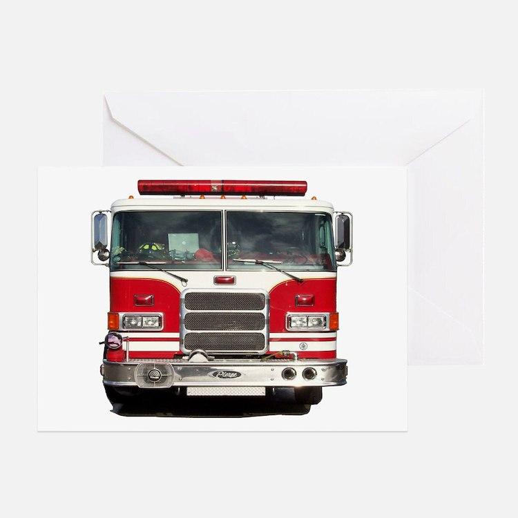 PIERCE FIRE TRUCK Greeting Card