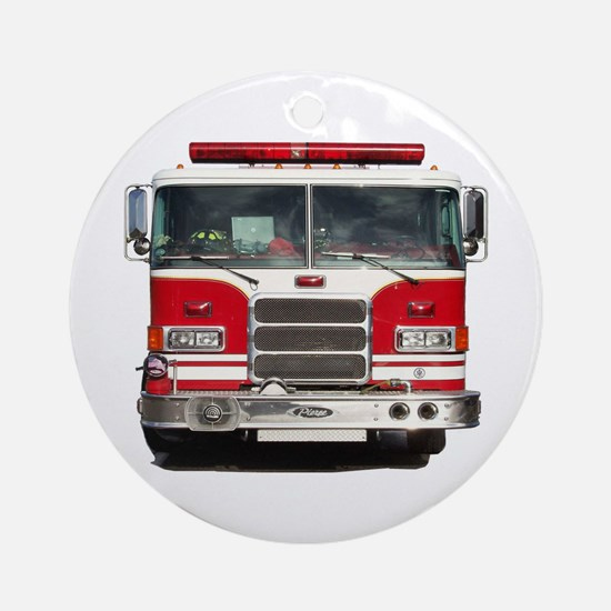 PIERCE FIRE TRUCK Ornament (Round)