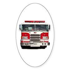 PIERCE FIRE TRUCK Oval Decal