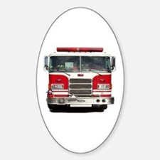 PIERCE FIRE TRUCK Oval Decal