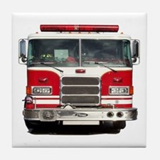 PIERCE FIRE TRUCK Tile Coaster