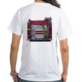 Fire fighter Mens White T-shirts