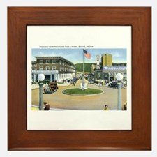 Seaside Oregon OR Framed Tile