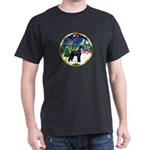 XmasMusic 3/G Schnauzer Dark T-Shirt