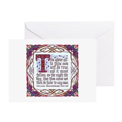 To Thine Own Self Be True Greeting Card