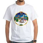 XmasMusic 3/Fr Bulldog 16 White T-Shirt