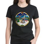 XmasMusic 3/Fr Bulldog 16 Women's Dark T-Shirt