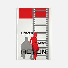 Film Movie Geek Rectangle Magnet