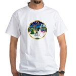 XmasMusic 3/Eng Springer 8 White T-Shirt