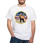 XmasStar/Schnauzer G White T-Shirt