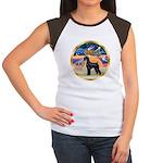 XmasStar/Schnauzer G Women's Cap Sleeve T-Shirt