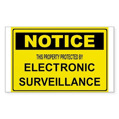 WARNING SURVEILLANCE CAMERA Rectangle Sticker