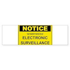 WARNING SURVEILLANCE CAMERA Bumper Bumper Sticker
