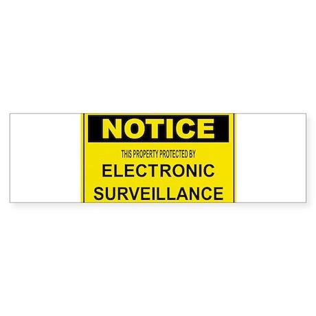 WARNING SURVEILLANCE CAMERA Bumper Sticker
