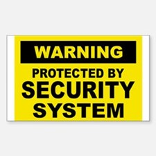 SECURITY SYSTEM SIGN Rectangle Decal