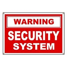 WARNING SECURITY SYSTEM Banner