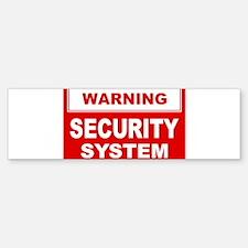 WARNING SECURITY SYSTEM Bumper Bumper Bumper Sticker