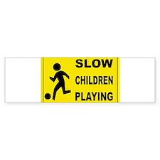 SLOW CHILDREN PLAYING Bumper Bumper Sticker