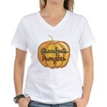 Grandpa's Pumpkin Women's V-Neck T-Shirt