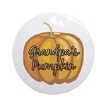 Grandpa's Pumpkin Ornament (Round)
