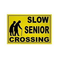 SLOW SENIOR CROSSING Rectangle Magnet
