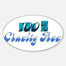 100% Cruelty Free Oval Decal