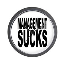 Management Sucks Wall Clock