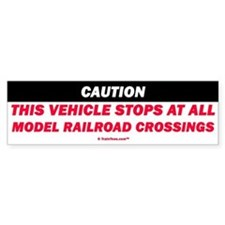 Model Railroad Crossings Bumper Bumper Sticker