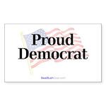 """Proud Democrat"" Rect Sticker (50)"