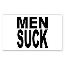 Men Suck Rectangle Sticker 50 pk)