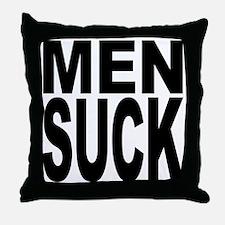 Men Suck Throw Pillow