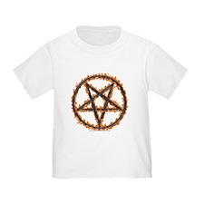Burning Inverted Pentagram T