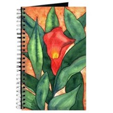 Red Calla Lily Watercolor Journal