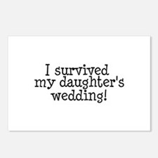 I Survived My Daughter's Wedding! Postcards (Packa