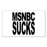 MSNBC Sucks Rectangle Sticker 10 pk)