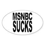 MSNBC Sucks Oval Sticker (50 pk)