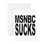 MSNBC Sucks Greeting Card