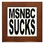 MSNBC Sucks Framed Tile