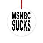 MSNBC Sucks Ornament (Round)