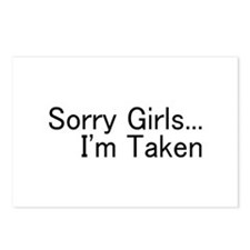Sorry Girls...I'm Taken Postcards (Package of 8)
