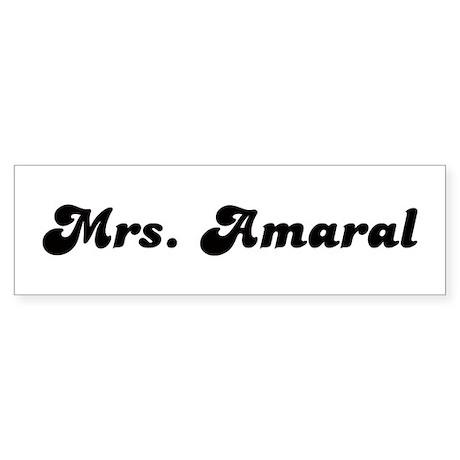 Mrs. Amaral Bumper Sticker